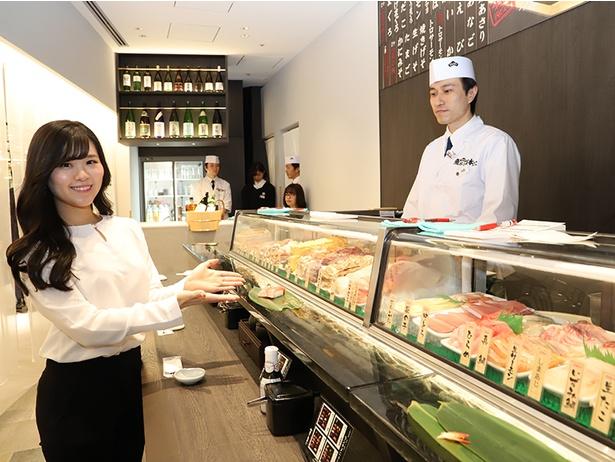 立ち食い寿司「寿司 魚がし日本一」