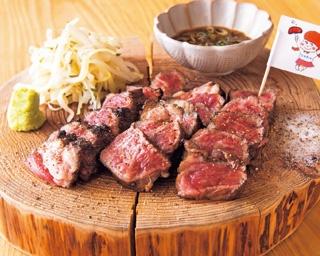 炭火と低温調理で焼き上げるステーキが絶妙のしっとり加減!「ステーキとおやさい なおちゃん」