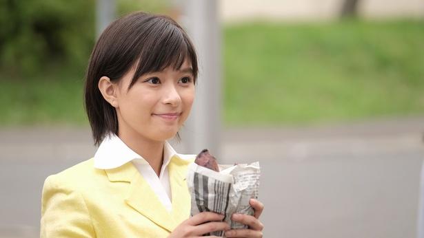 芳根京子は焼き芋を持つ姿もキュート