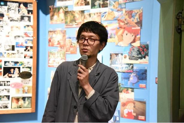 プレス内覧会で説明をしてくれたスタジオジブリ・イベントプロデューサーの青木貴之氏