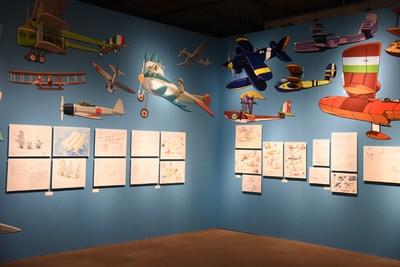 """「スタジオジブリの空とぶ機械達展」。""""空への憧れ""""が感じられる"""