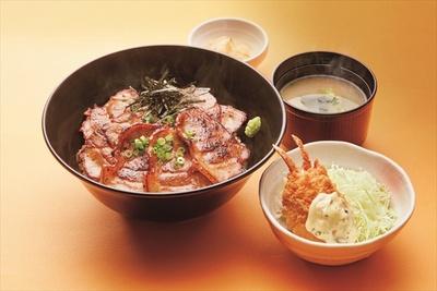 「北海道 帯広豚丼と紅ズワイガニのクリームコロッケ膳」(899円)