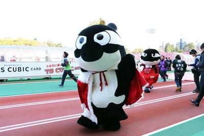 パロマ瑞穂スタジアムで開催されたセレッソ大阪戦のハーフタイムに、2019年の戴冠式が行われた