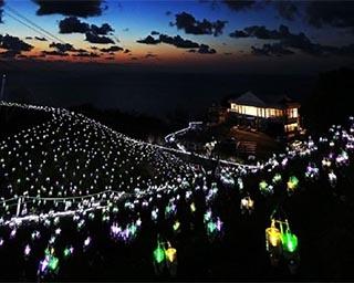 日本の夕陽百選の絶景とイルミのコラボ!福井県丹生郡越前町「水仙岬のかがやき2019」