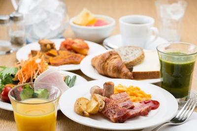 ベジタブルファーストをコンセプトとした朝食は1500円。高いコストパフォーマンスが魅力