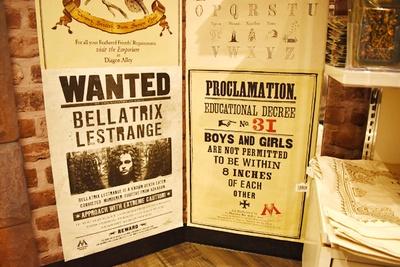 右のポスターには「男女は互いに8インチ以内近付いてはいけません」の文字…元ネタが分かる方はなかなか玄人!?