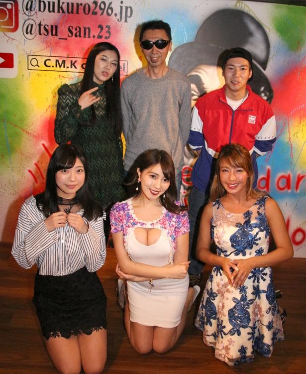 カンパニー松尾監督(写真後列中央)、出演者たちがドラマ「~元気の出るごはん~タチ喰い!」無料イベントに登壇