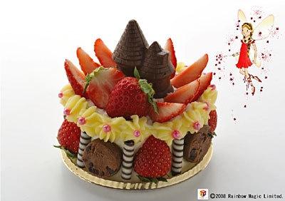 赤の妖精ルビーのショートケーキ(780円・横浜夢本舗)。直径は約10cm