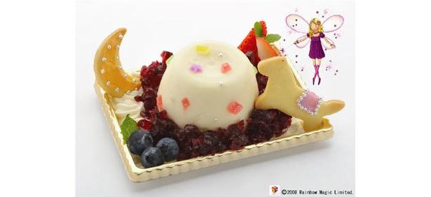 むらさきの妖精ヘザーのレアチーズケーキ(380円・岩瀬牧場)。ヨーグルトレア チーズがおいしい!