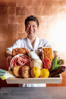 食堂ぎんみ / 「市場や産地直送の上等品です」と、料理長の原田憲知さん