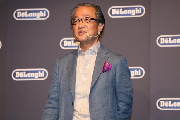 「日本の生活に新しい風を送りたい」と、デロンギ・ジャパン 代表取締役社長 杉本敦男氏