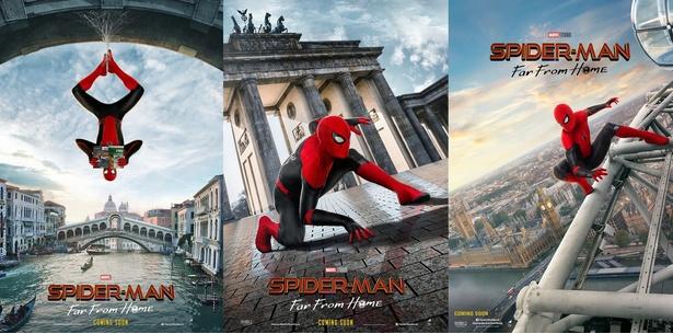 『スパイダーマン:ファー・フロム・ホーム』の海外版ポスター3種が解禁