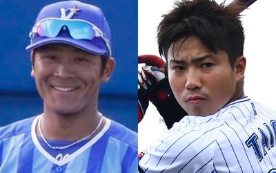 秀岳館高校の先輩後輩でもある宮本秀明選手(左)と大河選手