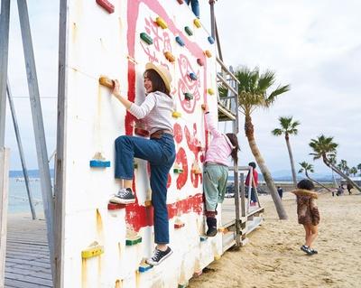 ハーバーハウス バーベキューガーデン / ターザンロープやクライミングウォールなどで大はしゃぎ!ビーチ内の遊具はすべて無料で遊べる