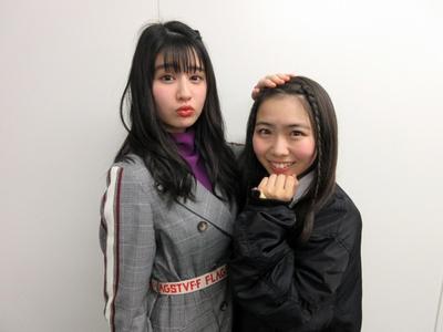 はちみつロケットの森青葉(左)・播磨怜奈(右)