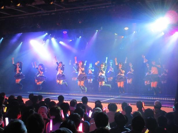 NMB48劇場で出張公演を行ったHKT48・チームTⅡ