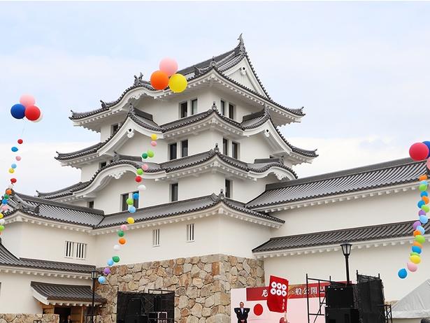 再建された「尼崎城」