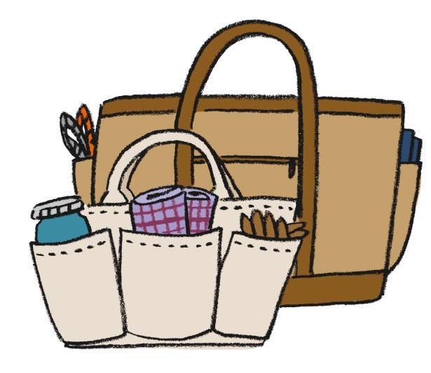 普段の生活にも使えるアイデア!小物系を一つのバッグにまとめる基本テク