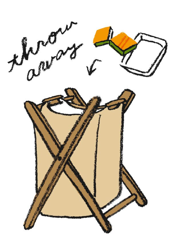 ポップアップ式ボックスでゴミ袋を隠すなどして、雰囲気を大切に過ごす工夫を