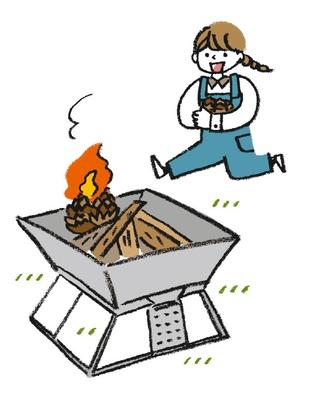 子供とキャンプを楽しむなら、松ぼっくりなど自然の素材で火起こしするのもおすすめ