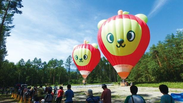 【写真を見る】長野県のPRキャラクター・アルクマの熱気球はとってもキュート!