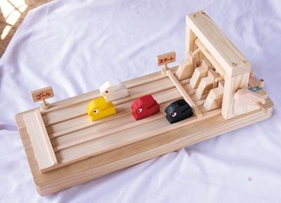 木の玩具 おれんじ村 / 「うさぎレース盤」(6000円)