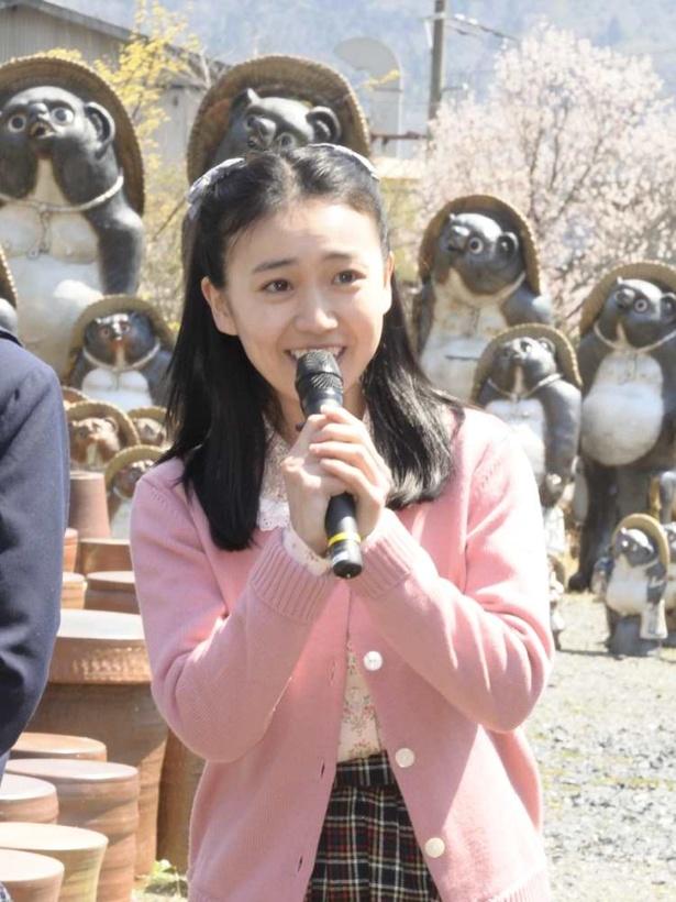 信楽で一番大きな窯元・丸熊陶業のお嬢様、熊谷照子を演じる大島優子