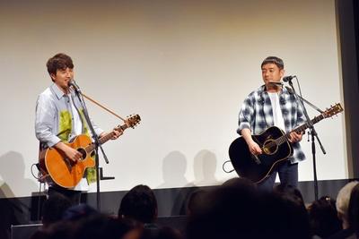 イベントの最後に、サプライズで曲を披露してくれた!