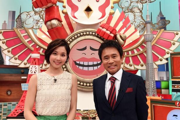 司会を務める浜田雅功とヒロド歩美アナウンサー(右から)