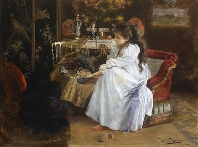 ルマー・リベラ「夜会のあとで」(1894年頃、カタルーニャ美術館蔵)