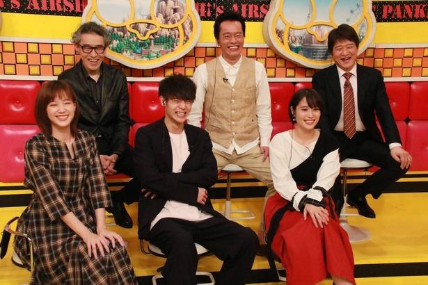 「ネプリーグSP」に出演する浅野和之、遠藤憲一、林修、広瀬アリス、窪田正孝、本田翼(写真左上から時計回り)
