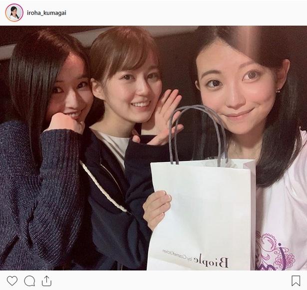 ※画像は熊谷彩春(iroha_kumagai)公式Instagramより