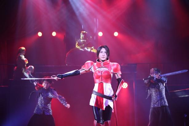 ドラマへの出演も多い、女優の護あさな。勇ましい女剣士・ジェルメイヌを演じる