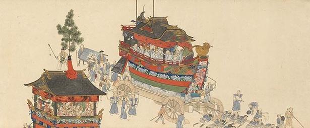 横山華山『祇園祭礼図巻』(上巻部分)(天保6-8(1835-7)年、個人蔵)