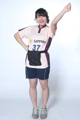 東明伶奈 / 1年目 / オリックス東明選手の親戚です!いつも1番大きな声を出すことを意識してます!胸元のミニーちゃんのリボンを見つけて下さい!