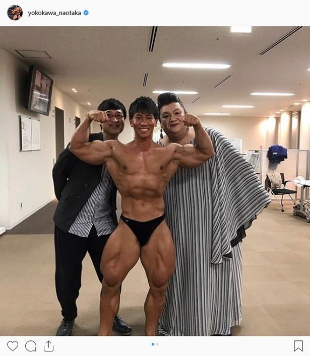 【写真を見る】ベンチプレスを自慢した鈴木伸之だったが、ボディービルダー横川尚隆にダブルスコアで敗北した