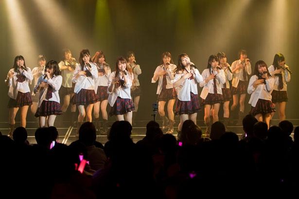 NMB48劇場で初日公演を行った渋谷チームM