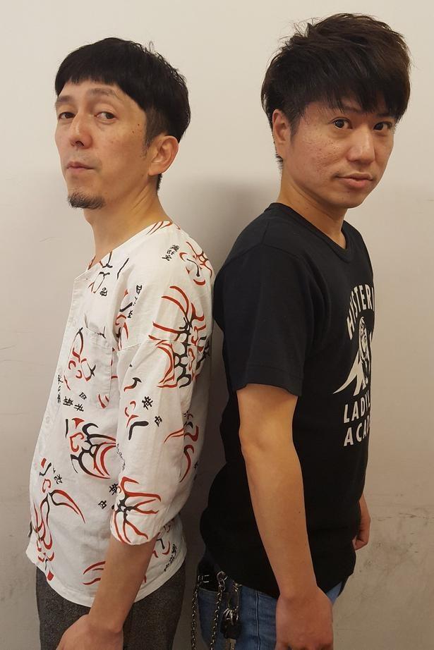 2丁拳銃の小堀裕之(左)と川谷修士(右)