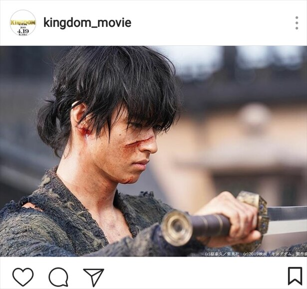 映画「キングダム」(4月19日公開)では戦争孤児の少年・信を熱演!!