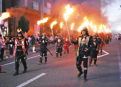 日本百名城 人吉お城まつり /  甲冑武者らによる「武者行列」