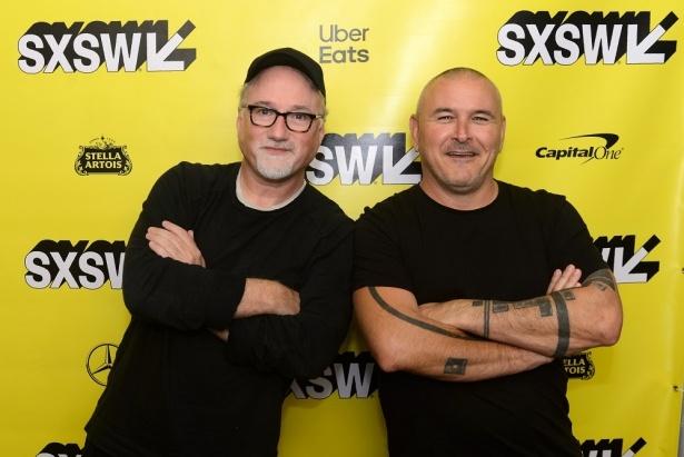 SXSWに登場したデヴィッド・フィンチャー(左)とティム・ミラー