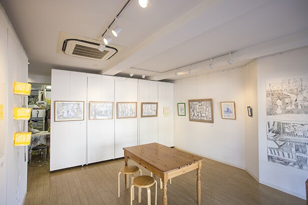 日本画、写真、陶芸などのアーティストの作品発表の場になっている