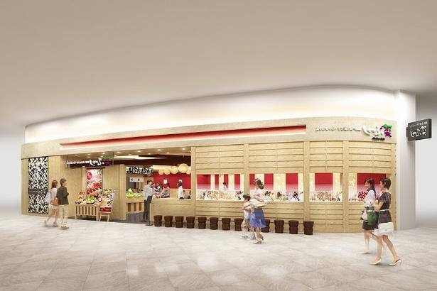 2階レストラン街にオープンする しゃぶしゃぶ専門店「しゃぶ菜」