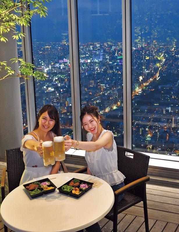 大阪の街の大パノラマが広がる最高のロケーション/~あべのハルカスのビアガーデン~『Beer300』