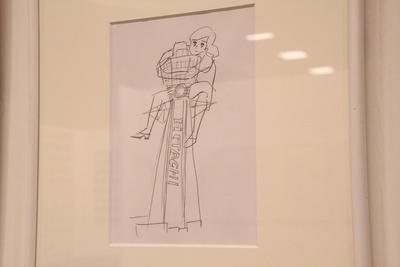 大阪のシンボル・通天閣とフチ子の原画も公開
