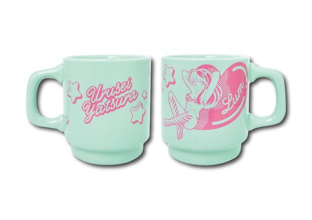 ラムのイラストがかわいいマグカップ(1300円)は、おみやげにも人気/うる星やつらcafe