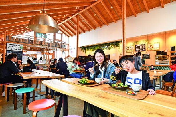 神戸の郷土料理や家庭の味が楽しめるフードコート「FARM CIRCUS食堂」/道の駅 神戸フルーツ・フラワーパーク大沢