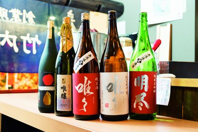 日本酒は常時約25種を用意/竹内酒造
