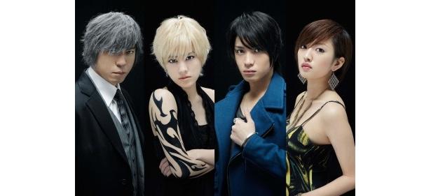 「カルテット」出演の(写真左から)上川隆也、福田沙紀、松下優也、夏菜