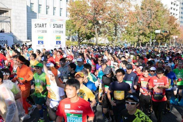 「大阪マラソンSEASON TRIAL2019 オプテージ Presents 10K & Fun RUN」にはタレントの福本愛菜も参加